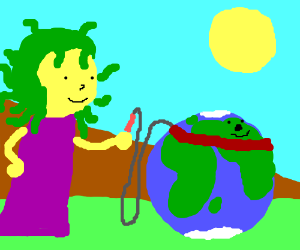 Medusa has a pet Earth