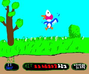 Nintendo's duck hunt game!