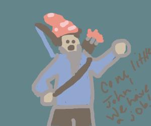 GnomeHood  (Robin hood thinks he's a gnome)
