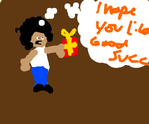 Afro man gives ME THE GOOD SUCC