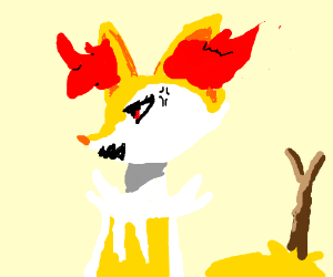 Braixen appears to be angry