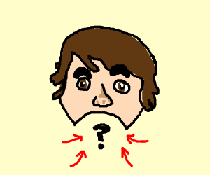 Leafy doesn't have a chin