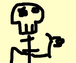 skeleton dude gives approval