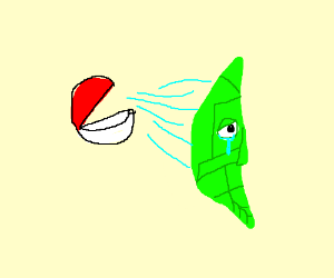 metapod being sucked into a pokeball