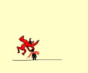 Demon atacks kid