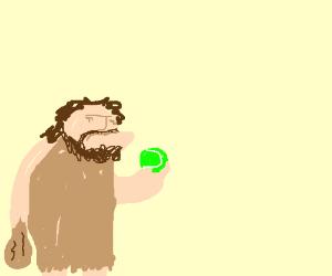 caveman meets baseball