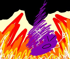 Man slays demon, but it regenerates in Hell.