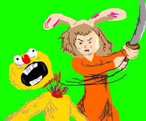 bunny eared girl kills yellmo