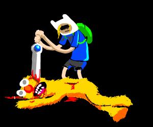 Finn takes murderous revenge on Yellmo
