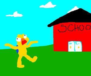 Yellmo goes to school