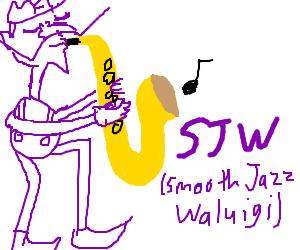 sjw (smooth jazz waluigi)