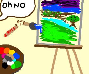 Paintbrush snaps, oh no!