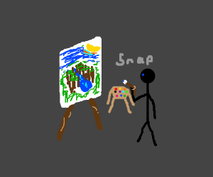 Oh no! I broke my paintbrush!