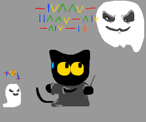 The cat from the google halloween game