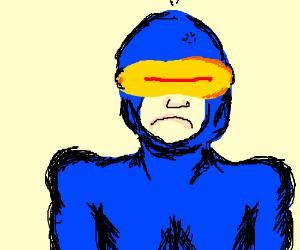 x-men cyclops is pissed off