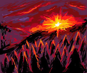 it's mountain time at sunset