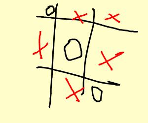 Tic-Tac-Toe (Circles won.)