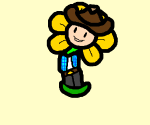 cowboy undertale flower