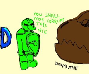Teal duck knight defends Drawception