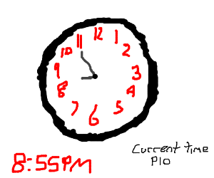 Draw/write the current time, PIO