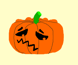 Disappointed Jack-O-Lantern