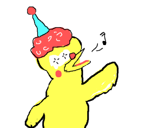 The singing Clown Bird Man