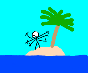 What would you take to a desert island? Arms.