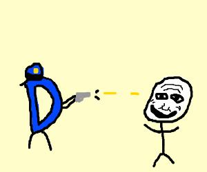 The D busts a cap in a derailer