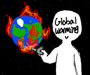 Global warming destroys the Earth