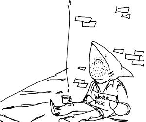 Homeless Shark will work for food