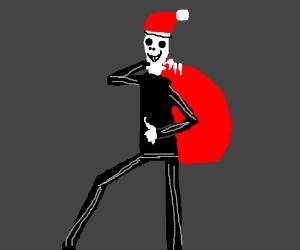 Jack skellington is being Christmassy