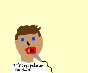LeafyIsHere choking on his microphone  - Drawception