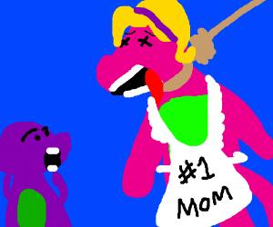 Barney's mom hangs herself