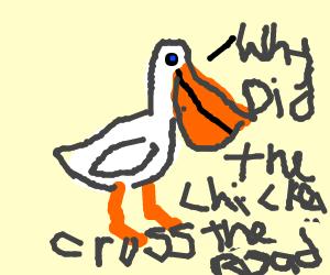 Pelican wants to tell a joke. - Drawception