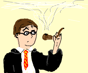 Harry Potter Checks Out A Pipe