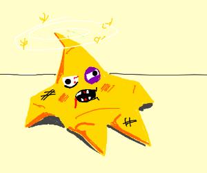 Beaten up star
