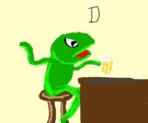 Kermit the frog hates Dinkleberg!