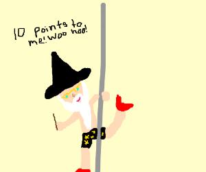 Dumbledore becomes a pole dancer