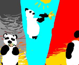 A panda eats,shoots and leaves.