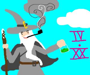 Gandalf smokin' that ganja