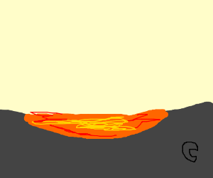 A pool of lava