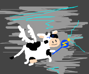 cow pegasus has tornado powers