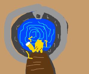 pikachu in a portal