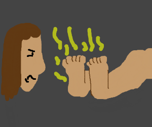 Girl is disgusted by smelly feet