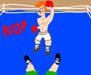 Glass Joe Wins by KO (Punch Out)