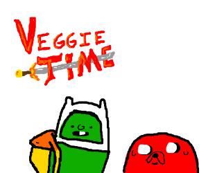Adventure Time and Veggietales crossover.