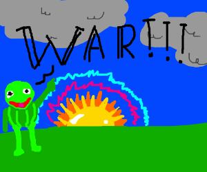 Kermit the frog starts war at sunrise