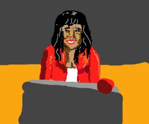 Aisha Tyler looking fab in red!