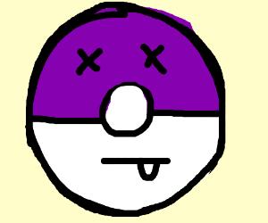dead purple pokeball