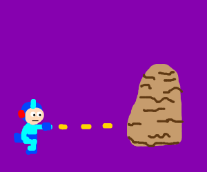 Megaman fighting piles of oatmeal